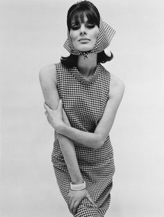 The dress that started it all. Paulene Stone in a Barbara Hulanicki dress for BIBA. Photo John French, published by The Daily Mirror, England, 1964