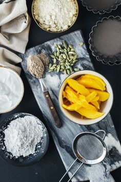Mango-Lassi-Greek-Yogurt-Tarts-with-Almond-Crust