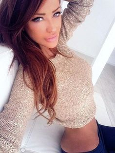 Bianca Dragusanu - Brown to Light Brown Ombre Hair
