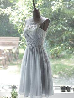 Cute Prom Dress,Chiffon Homecoming Dress,Pleat | pennystyle