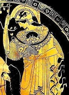 Athena and Her owl. Etruscan: ATA:ANA = Ancestor mother = ATHENA ©Artur Uskumantur 2012 All rights reserved.