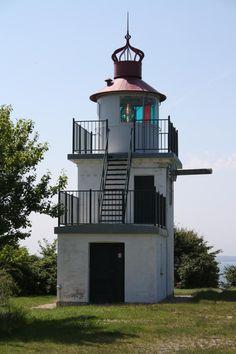 Spodsbjerg Fyr. Lighthouse near Knud Rasmussens house, Hundested