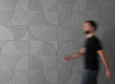 Submaterial re-imagines their popular wall hanging patterns into wool felt and cork wall coverings with bold, geometric patterns that even help with sound.