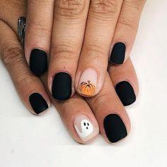 Holloween Nails, Halloween Acrylic Nails, Cute Halloween Nails, Fall Acrylic Nails, Halloween Nail Designs, Acrylic Nail Designs, Trendy Halloween, Spooky Halloween, Halloween Recipe