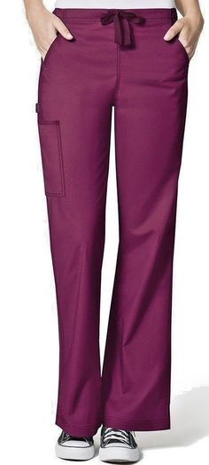e629ad05ff8 Scrub Pants Nurses Medical Workwear Womens 2XT Tall Wine WonderWinx Grace  Cargo #fashion #clothing #shoes #accessories #uniformsworkclothing #scrubs  (ebay ...