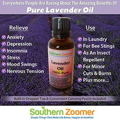 Southern Zoomer Pure Lavender Essential Oil - True 100% Lavandula Officinalis