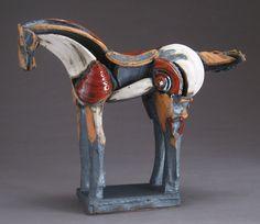 White and Red Horse, 12-31: Jeri Hollister: Ceramic Sculpture - Artful Home