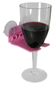 Bathtub wine glass holder - oh yeah...this is happening!