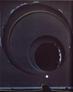 Black Space by Japanese sci-fi artist, Shuji Tanase, Image