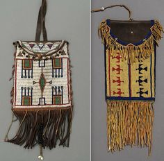 Cheyenne or Arapaho bags. Hood Mus. Dartmouth ac