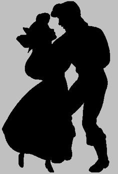 prince eric and ariel silhouette - Google Search
