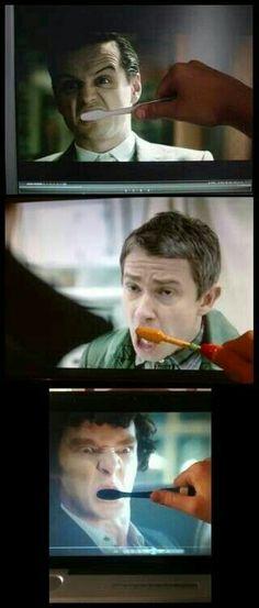 I'm not in the Sherlock fandom but this is rlly funny Quotes Sherlock, Sherlock Meme, Sherlock John, Sherlock Poster, Sherlock Season, Sherlock Holmes, Watson Sherlock, Jim Moriarty, John Watson