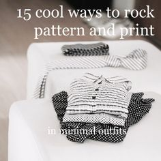 Who said minimalists cannot rock patterns? I& show you how to build in pattern and print into minimal looks, and a bunch of cool ways to combine them. Minimal Look, Minimal Outfit, Try On, Minimalism, Print Patterns, Cool Outfits, Make It Yourself, Rock, Cool Stuff