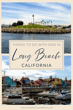 Long Beach, California is a great place to visit if you're planning a trip to Southern California. From beaches to museums to the Aquarium of the Pacific and the Queen Mary, here are 18 top things to do in Long Beach with kids. California With Kids, Long Beach California, Visit California, California Travel, Southern California, Usa Travel Guide, Travel Usa, Travel Guides, Family Vacation Destinations