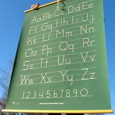 Cute wall art - chalkboard alphabet - kids room!