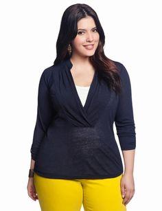 Slub Wrap Knit | Plus Size Tops & Shirts | eloquii by THE LIMITED