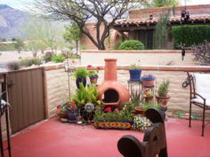 Ordinaire Mexican Courtyard Ideas | Our Mexican Motif Flower U0026amp; Plant Spaces, Our  Entrance U0026amp