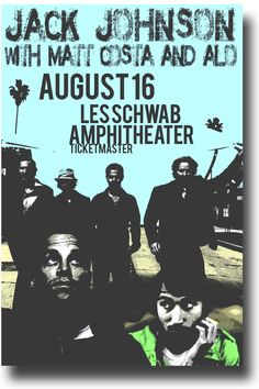 Jack Johnson Poster Concert $9.84
