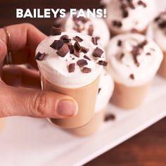 Bailey's Jello Shots - New Ideas Easy Fruity Cocktails, Yummy Drinks, Baileys Cocktails, Jello Shot Recipes, Drinks Alcohol Recipes, Shot Ideas Alcohol, Party Shots Alcohol, Coffee Jello, Coffee Coffee