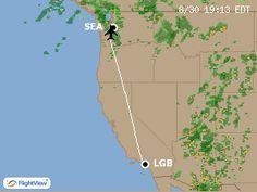 FlightView - Mobile Flight Tracker - Sample Flight