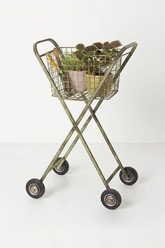 love this vintage style garden cart! Perfect for the studio! #anthropologie