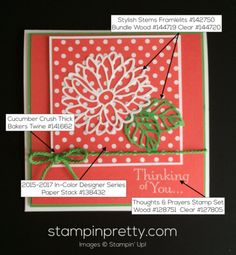 Stylish Stems Thinking of You Card Idea.  Mary Fish, Stampin' Up! Demonstrator.  1000+ StampinUp & SUO card ideas.  Read more https://stampinpretty.com/2017/03/special-reason-thinking-of-you-card-3-30.html
