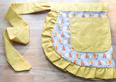 Retro Woodland Half Apron Bunnies and Squirrels by KitchTowels, $25.00
