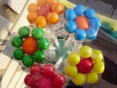 Bubble-gum bouquets for party favors.