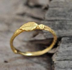 simple leaf ring
