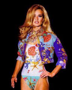 Karen Mulder in Versace Swim Wear
