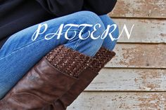 diy PDF PATTERN - Women's Boot Cuff Knitting Pattern - REASONABLE - Thick & Chunky - Instant Download - Easy Knitting Pattern on Etsy, $1.50