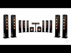 Klipsch Reference Premiere HD Wireless Speakers Projector 300 Inch Image Screen Less TV Home Theatre Sound, Home Theater Design, Room Speakers, Wireless Speakers, Speaker System, Audio System, Diy Boombox, Media Rooms, Youtube