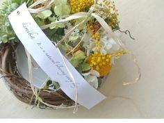 ミモザと黄色の花達のwreath | iichi(いいち)| ハンドメイド・クラフト・手仕事品の販売・購入