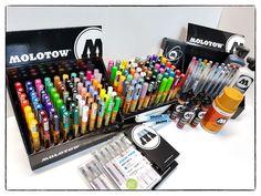 Molotow markers & paints. #molotow #markers #paint