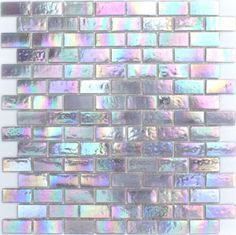 Iridescent tiles, at Glass Tiles Specialty (USA) This would be perfect in a all white kitchen Iridescent Tile, Grey Bathroom Tiles, Shower Tiles, White Bathroom, My New Room, My Dream Home, First Home, Sweet Home, Room Decor