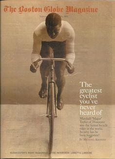 Major Taylor on the cover of the Boston Globe