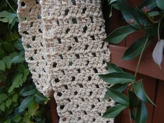Crocheted scarf of 100% Gulf Coast Native wool from Wool of Louisiana.  Pattern and crochet work by Laurie Bea Knitting, especially for Wool of Louisiana.  Contact us to learn how to get a free pattern!