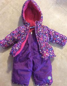 Bon Bebe 6 Month Purple & Pink Snowsuit Coat Snow Pants Snow Suit #bonbb #Snowsuit #Everyday