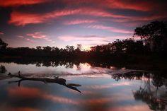 crimson #sunset calliope river