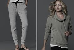 james perse Loving these chic neutral toned workout clothes from James Perse