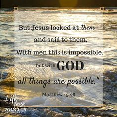 REDE MISSIONÁRIA: WITH GOD ALL THINGS ARE POSSIBLE (MATTHEW 19:26)