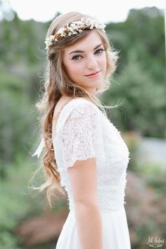 Gorgeous Bridal Hairstyles with Accessories - Glam Bistro