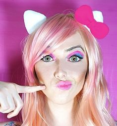 Hello Kitty ears!!! WOULD BE SUCH A CUTEEE IDEA FOR HALLOWEEN!! I think I may just have to be HELLO KITTY this year :) :) :) *****
