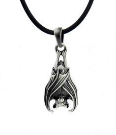 Dysfunctional Doll Hanging Vampire Bat Gothic Necklace : Pendants & Necklaces
