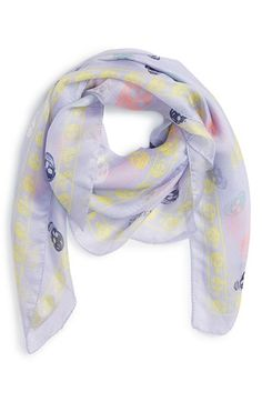 Alexander McQueen Skull Print Silk Scarf available at #Nordstrom