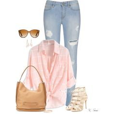 Casual Friday by ksims-1 on Polyvore featuring polyvore, fashion, style, Salvatore Ferragamo, Longchamp, Lana Jewelry, Charlotte Russe, Shwood and clothing