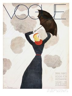 Vogue Cover - February 1933 Regular Giclee Print von Georges Lepape bei AllPosters.de