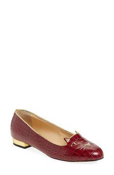 CHARLOTTE OLYMPIA 'Kitty' Flat (Women). #charlotteolympia #shoes #flats