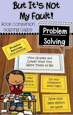 One of my goals is to help my students become successful problem solvers all on their own. This product is a set of problem solving sorting/matching cards. There are six problems and four solutions for each problem. There is a set of blank cards that you Elementary School Counselor, School Counseling, Group Counseling, Elementary Art, Social Emotional Learning, Social Skills, Responsibility Lessons, Counseling Activities, Respect Activities