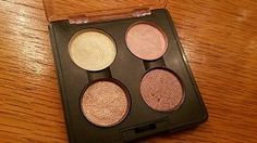 Authentic MAC Neutral Eyeshadow Quad LtEd.Pressed Pigments *Deckchair Lily White Tan & Chocolate Brown! Check it out!